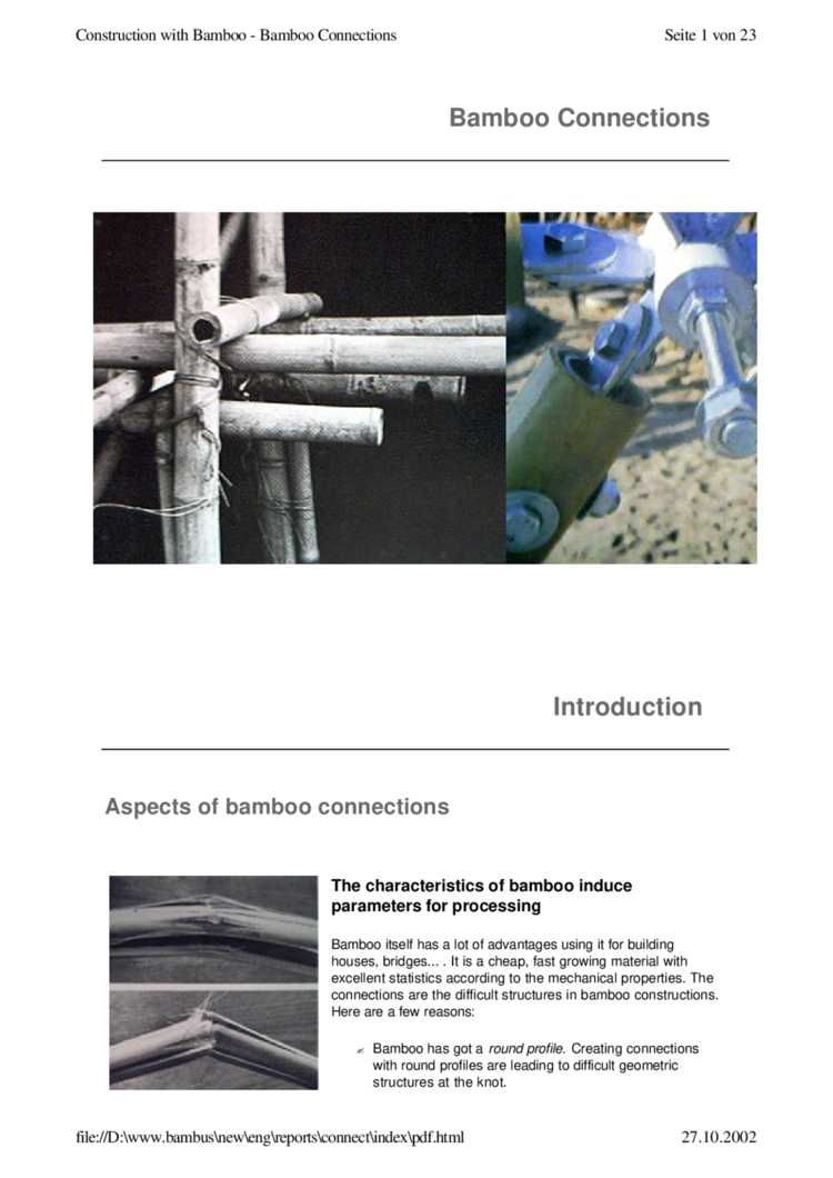 Bamboo connections - TU Delft OpenResearch net