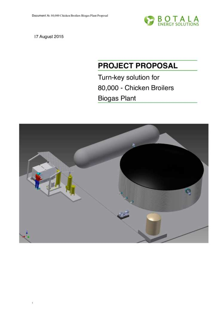 Sa Project Proposal Turn Key Solution For 80000 Chicken Biogasdigesterdiagramjpg Broilers Biogas Plant